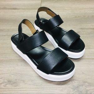 Franco Sarto | Kenan Platform Leather Sandals 9.5